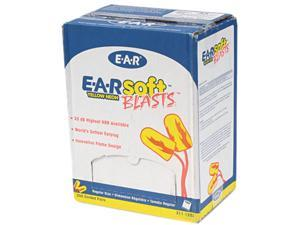 E·A·R 311-1252 E-A-Rsoft Blasts Ear Plugs, Corded, Foam, Yellow Neon, 200 Pairs/Box