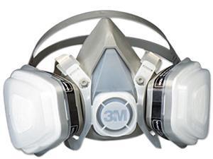 3M 52P71 Dual Cartridge Respirator Assembly 52P71, Organic Vapor/P95, Medium