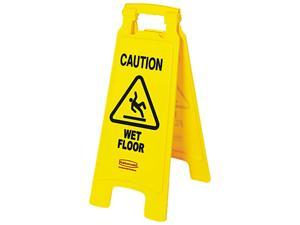 Rubbermaid Commercial 611277YW Caution Wet Floor Safety Sign