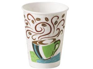 Dixie 5338DX Hot Cups, Paper, 8 oz., Coffee Dreams Design, 500/Carton