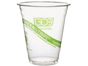 Eco-Products EPCC12GS GreenStripe Renewable Resource Compostable Cold Drink Cups, 12 oz, Clr, 1000/Ctn
