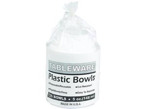 Tablemate 5244WH Plastic Dinnerware, Bowls, 5 oz., White, 125/Pack