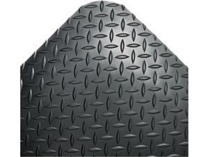 Crown CD0035DB Industrial Deck Plate Anti-Fatigue Mat, Vinyl, 36 x 60, Black