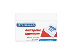 PhysiciansCare by First Aid Only Antiseptic Towels, 25 Towels/Box