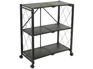 TygerClaw TYDS140045S 3-Layer Folding Mobile Steel Shelving Unit