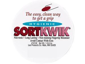 LEE 10132 Sortkwik Fingertip Moisteners, 1 3/4 oz, Pink, 2/Pack