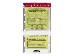 MMF Industries 2362500N20 Tamper-Evident Twin Deposit Bags, 9 1/2 x 17 1/2, 100/Box, Clear