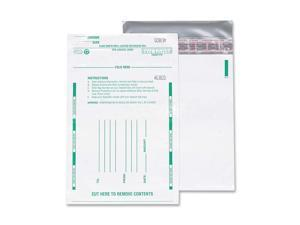 Quality Park 45224 Poly Night Deposit Bags w/Tear-Off Receipt, 8.5 x 10-1/2, Opaque, 100 Bags/Pack