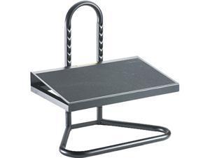 Safco 5124 Ergonomic Industrial footrest, Adjustable Height, Black