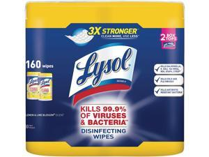 Disinfecting Wipes Lemon and Lime Blossom LYSOL Brand RAC82159 7 x 8 35//Can