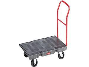 Rubbermaid Heavy-Duty Platform Truck Cart, 1000lb Capacity, 24 x 48 Platform, Black