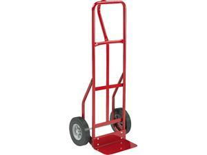 Safco 4084R Two-Wheel Steel Hand Truck, 500lb Capacity, 18w x 47h, Red