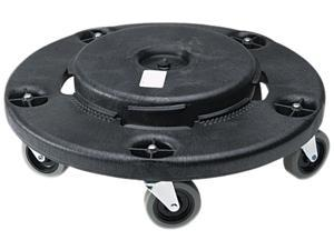 Rubbermaid Commercial 264000BK Brute Round Twist On/Off Dolly, 350 lb Capacity, 18dia x 6 5/8h, Black