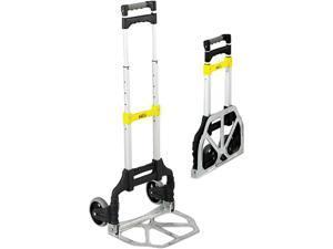 Safco 4049 Stow & Go Cart, 110lb Capacity, 15-1/4w x 16d x 39h, Aluminum