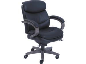 La-Z-Boy 48963A Woodbury Mid-Back Executive Chair, Black