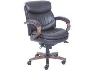 La-Z-Boy 48963B Woodbury Mid-Back Executive Chair, Brown
