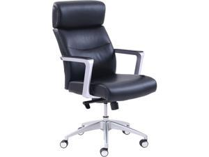 La-Z-Boy 49317BLK High-back Leather Chair Black