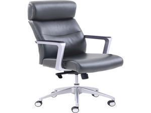 La-Z-Boy 49317GRY High-back Leather Chair Gray