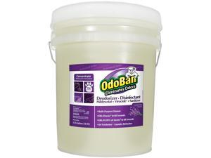 OdoBan CCC 911162-5G Concentrated Odor Eliminator and Disinfectant, Lavender Scent, 5 gal Pail