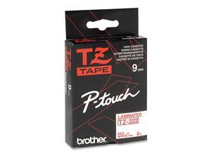 Brother 9mm Red on White tape for P-touch 8m, TZE222