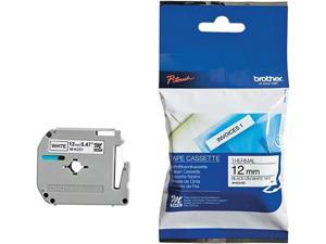 Brother MK231 Label Tape, 12mm, Black on White