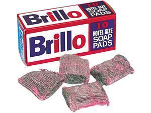 Brillo SP1210BRILLO Hotel Size Steel Wool Soap Pad, 10/Box, 120/Carton