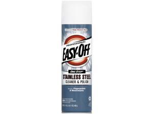 EASY-OFF 62338-76461 Stainless Steel Cleaner and Polish, Liquid, 17 oz. Aerosol Can, 6/Carton