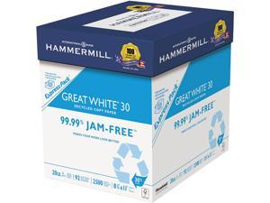 Hammermill 067780 Great White 30 Recycled Print Paper, 92 Bright, 20 lbs, 8.5 x 11, White, 2,500 Sheets / Carton