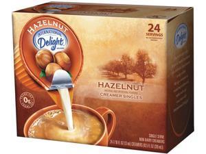 International Delight WWI100680 Hazelnut Liquid Creamer, 0.44 Oz., 24/Box