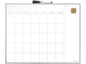 """U Brands 361U00-01 Magnetic Dry Erase Undated One Month Calendar Board, 20"""" x 16"""", White"""