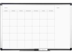 """U Brands 2901U00-01 PINIT Magnetic Dry Erase Undated One Month Calendar, 36"""" x 24"""", White"""