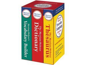 Merriam Webster MER332-8 Everyday Language Reference Set, Dictionary, Thesaurus, Vocabulary Builder