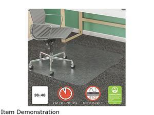 """Deflecto CM14142 SuperMat Frequent Use Chair Mat, Rectangle, 36.00"""" x 48.00"""", Medium Pile, Clear"""