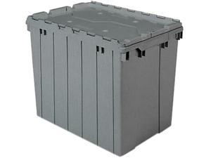 Akro-Mils 39170GREY Attached Lid Storage Container