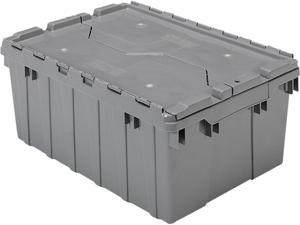 Akro-Mils 39085GREY Attached Lid Storage Container