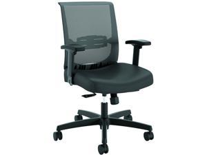 HON HONCMY1AUR10 Convergence Task Chair, Synchro-Tilt, Black Vinyl