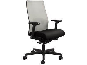 HON I2M2AFC10ATK Ignition 2.0 4-Way Stretch Mid-Back Mesh Task Chair, Supports up to 300 lbs., Black Seat, Fog Back