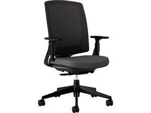 HON H2281.VA19.T Lota Series Mesh Mid-Back Work Chair, Charcoal Fabric, Black Base