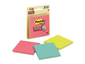 Post-it 3321SSAU 3x3 Super Sticky Jewel Pop Coll. Notes