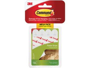 Command 17024136ES Removable Adhesive Poster Strips