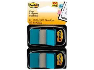 Post-it 680-BB2 Flags, Blue, 1 in Wide, 50/Dispenser, 2 Dispensers/Pack