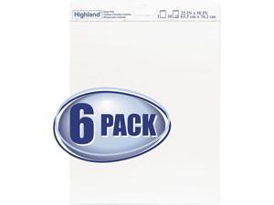 "3M 540-6PK Easel Pad, 25"" x 30"", White, 6/pack"