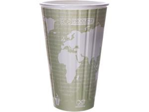 Eco-Products EP-BNHC16-WD 16.00 oz. World Art Insulated Hot Cups - 600/Carton