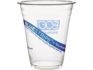 Eco-Products EP-CR12 12 oz BlueStripe Cold Cups - 1000 / Carton