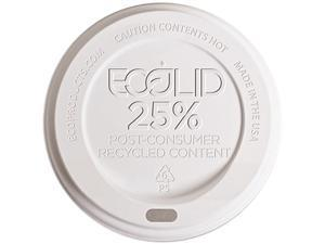 Eco-Products EP-HL16-WR EcoLid 25% Post-Consumer Recycled Content Lid for 10-20oz Hot Cup - 1000/Carton