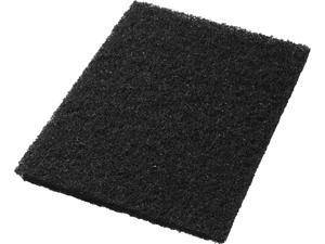"""Americo 40011428 Standard Black Stripping Floor Pads Rectangle (5 Pack), 14"""" x 28"""""""
