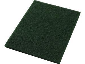 "Americo 40031428 Green Scrub Floor Scrubbing Pad Rectangle (5 Pack), 14"" x 28"""