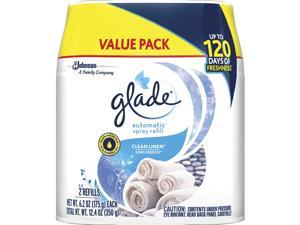 Glade 310909CT Automatic Spray Refill Value Pack - Spray - 12.4 fl oz (0.4 quart) - Clean Linen
