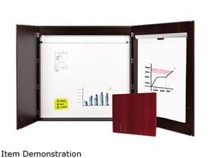 "Bi-Silque MasterVision CAB01010143 Conference Cabinet, Porcelain Magnetic, Dry Erase, Ebony - 48"" x 48"""