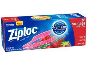 Ziploc 314470 Double Zipper Gallon Storage Bags, 1.75 mil, 342 Bags